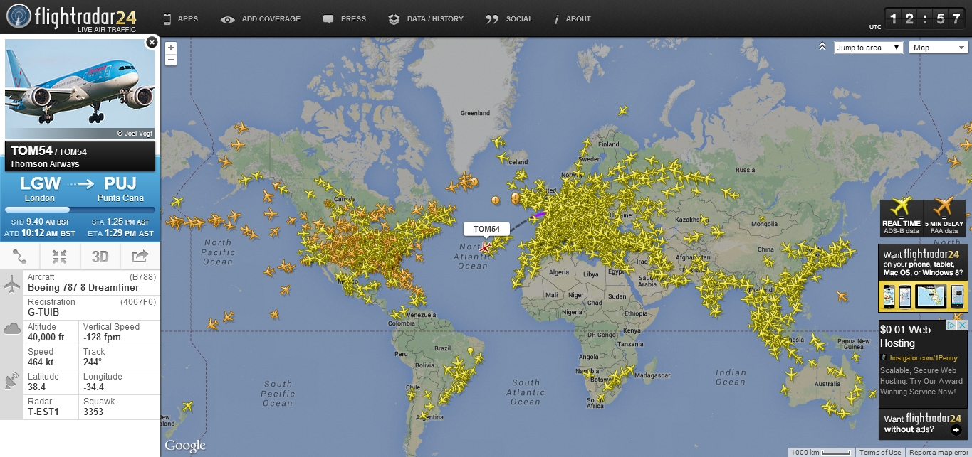 6bd021b53760 Real time aircraft tracking by FlightRadar24 - ADSBHub