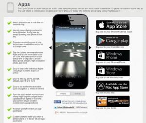 FlightRadar24 mobile applications